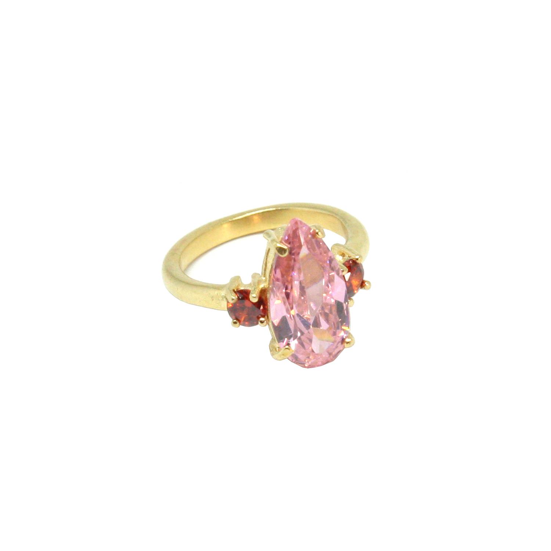 Comprar Yocari Silver plated ring Zirconia Pink Ruby