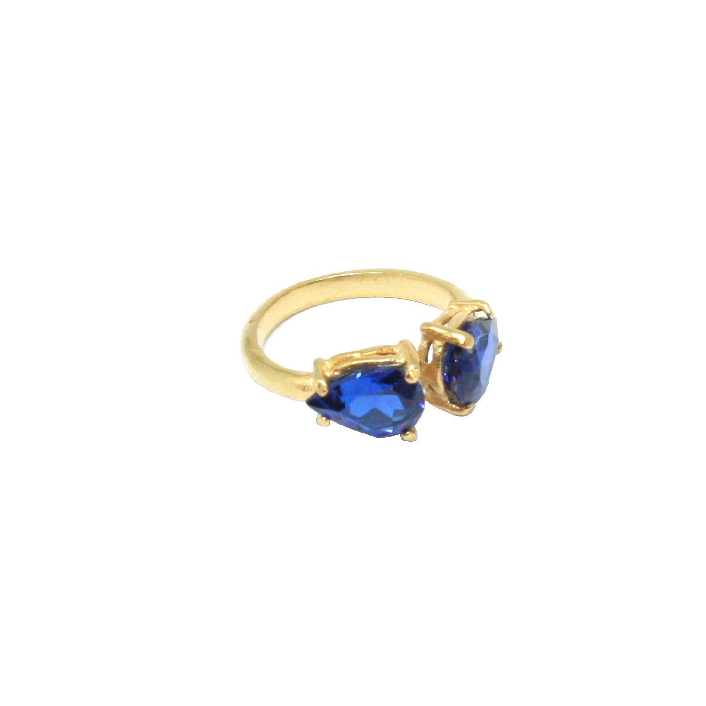 Comprar Yocari Silver plated ring Zirconia Pear Sapphire