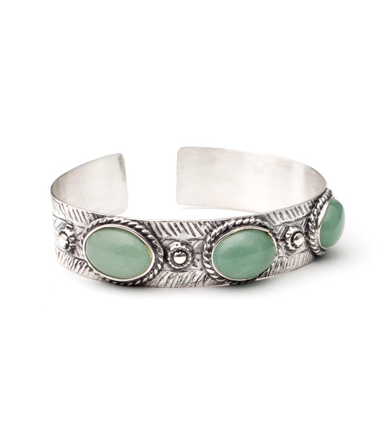 Comprar Yocari Holia silver bracelet, green agates