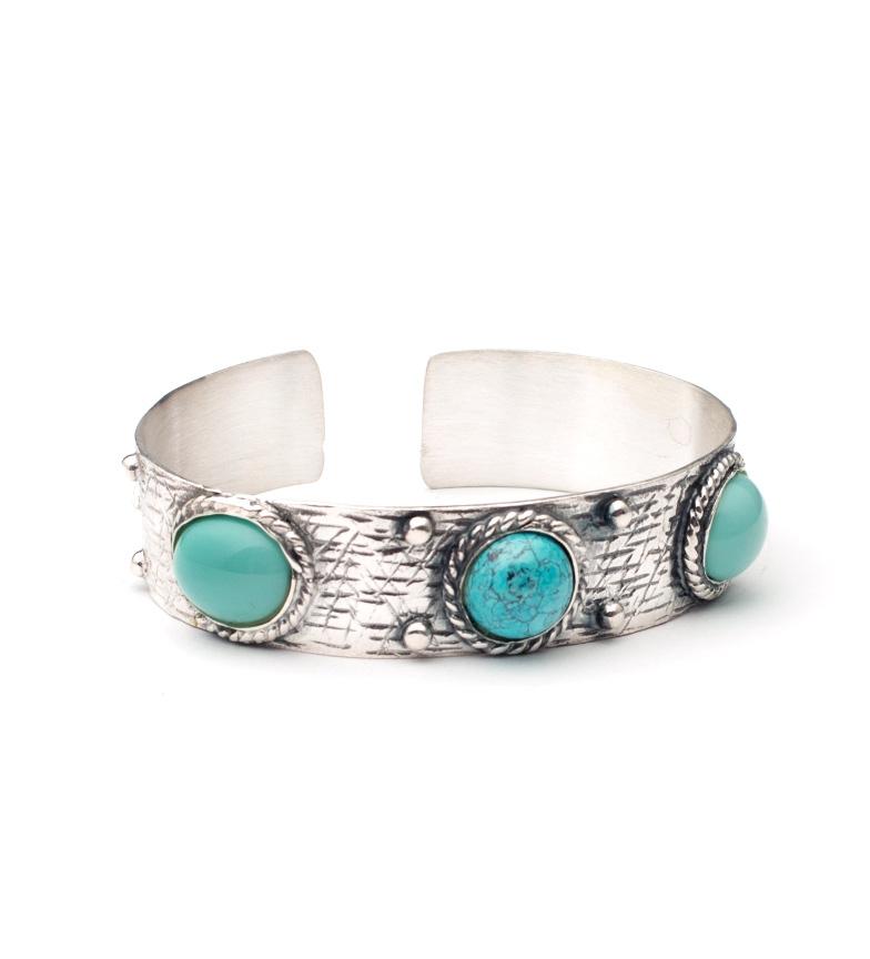 Comprar Yocari Moala bracelet vert agate argent