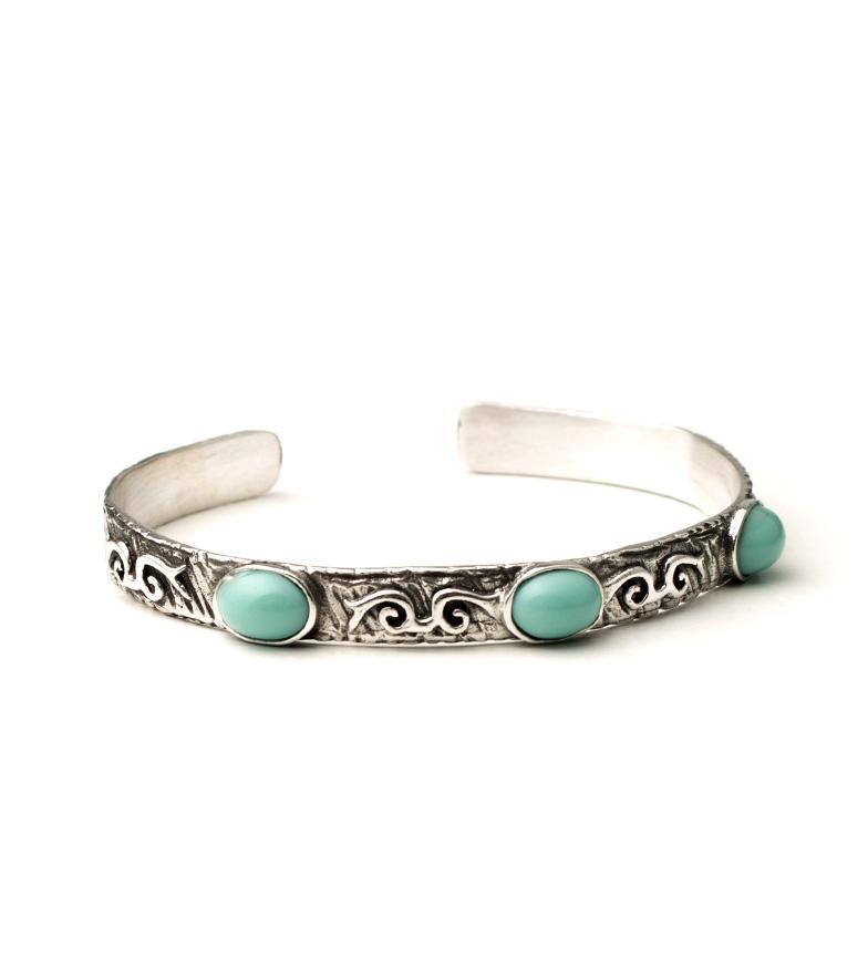 Comprar Yocari Xena pulseira de prata, turquesa