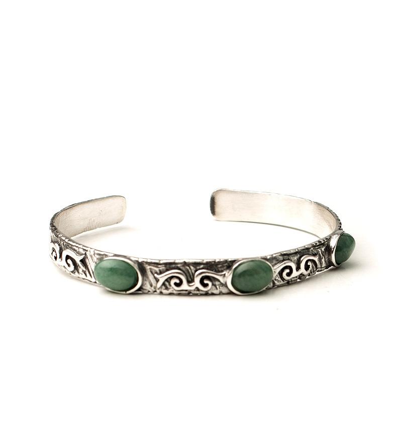 Comprar Yocari Xena pulseira de prata, verde