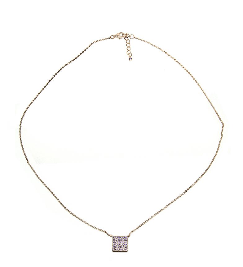 Comprar Yocari Collar Cuadrado plata chapado rosa