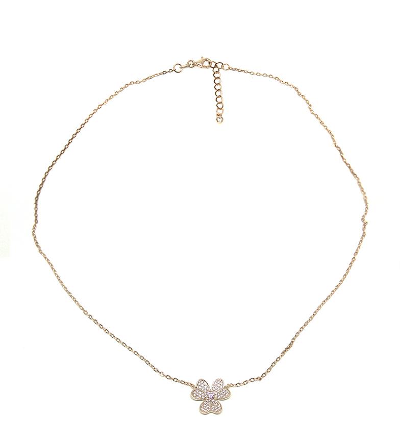 Comprar Yocari Collar Flor plata chapado rosa