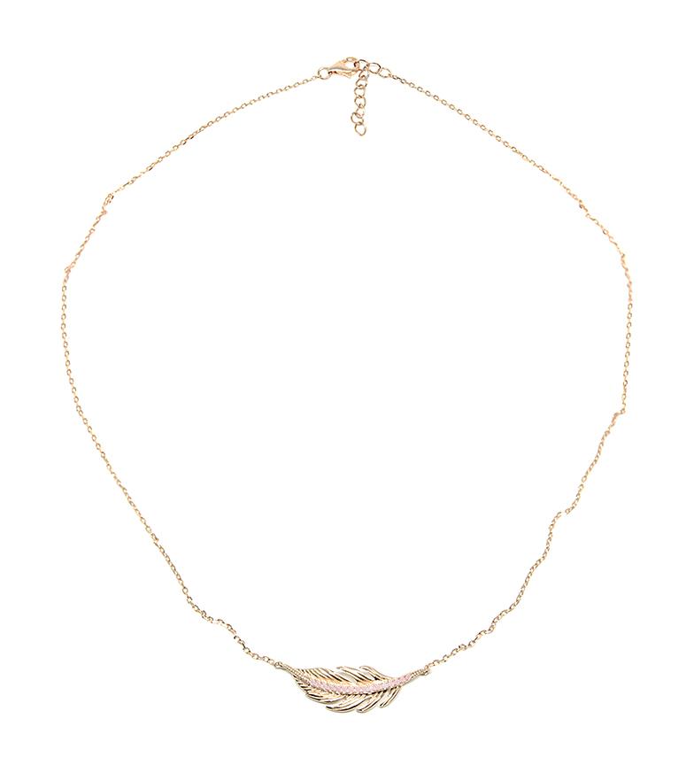 Comprar Yocari Necklace Leaf silver plated pink