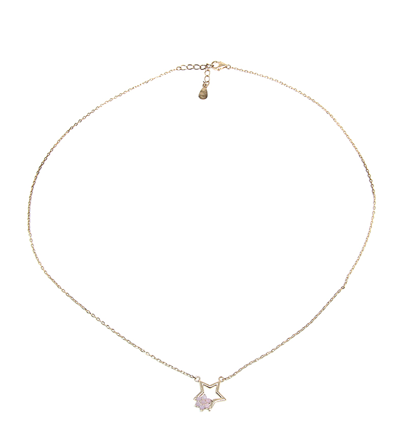 Comprar Yocari Necklace Star silver plated pink