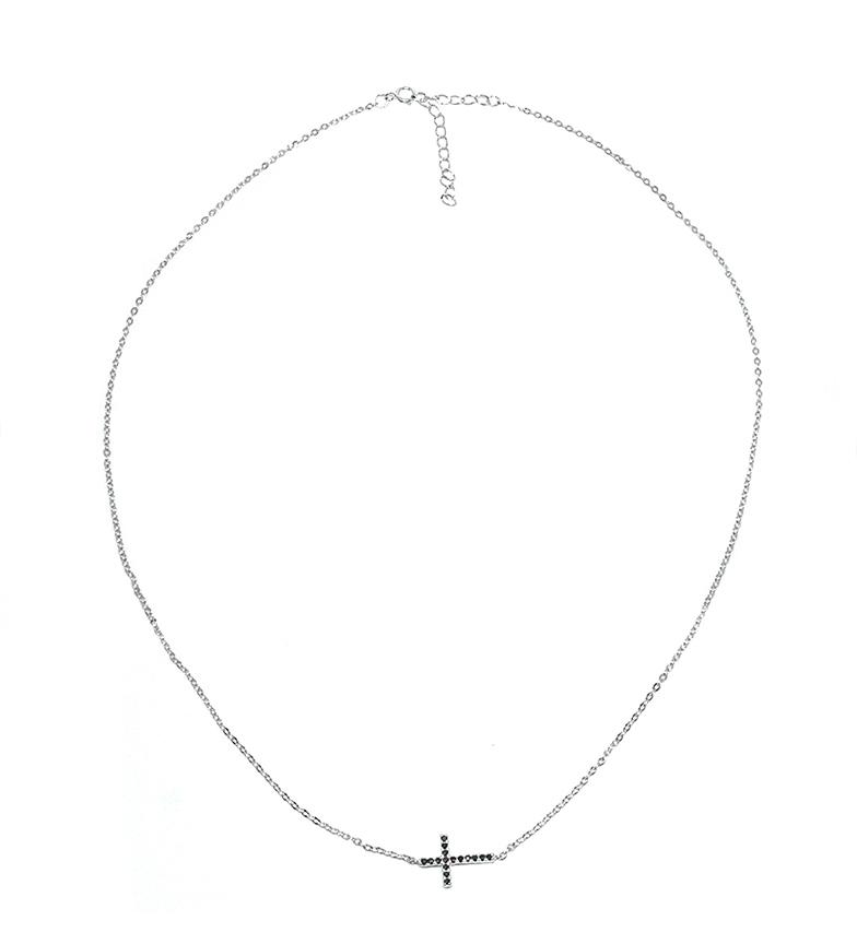 Comprar Yocari Collar Cruz plata rodiada onix