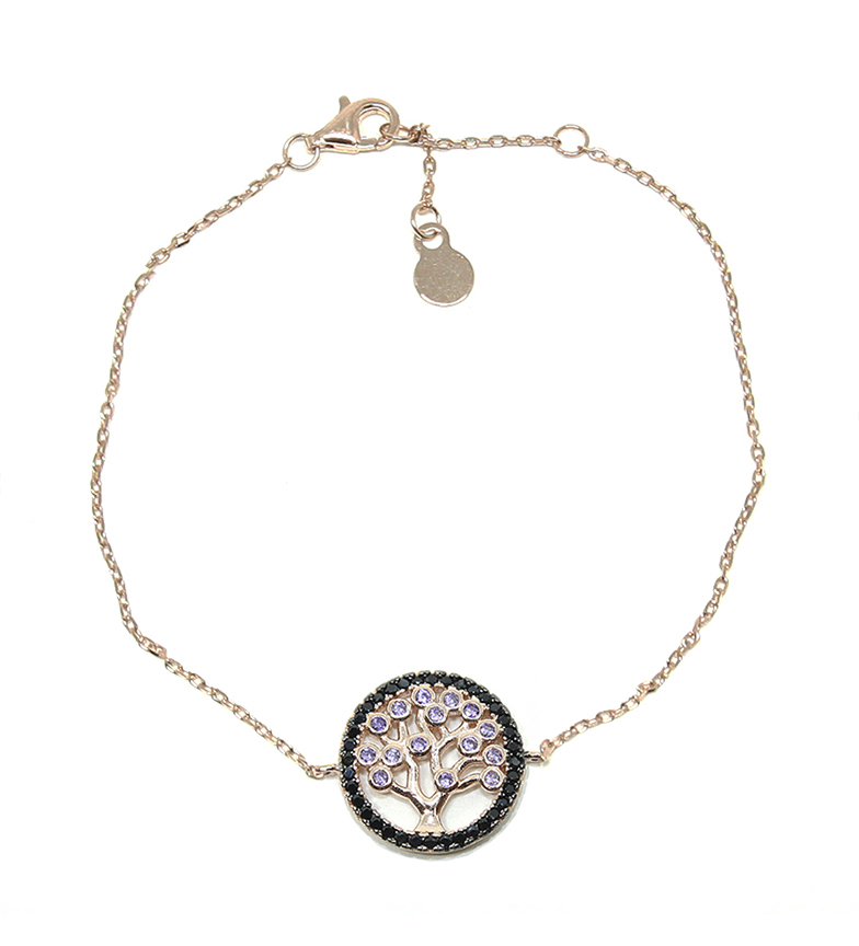 Comprar Yocari Bracelet Tree of Life silver plated in pink gold amethyst