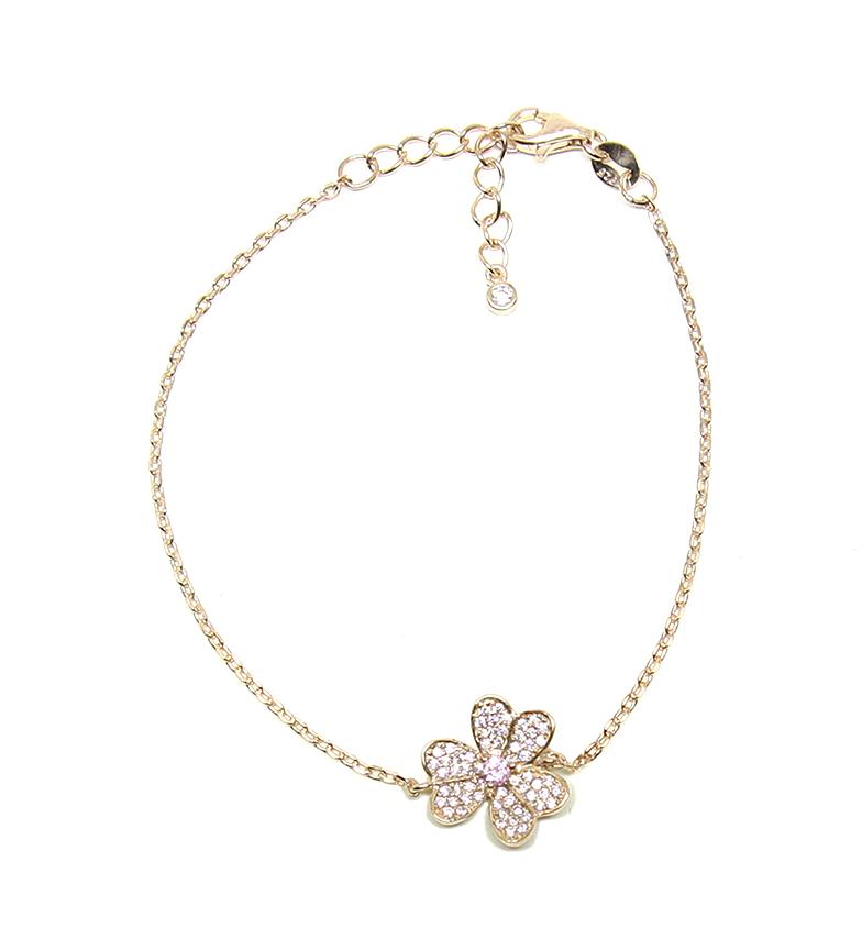 Comprar Yocari Bracciale fiore in argento placcato oro rosa
