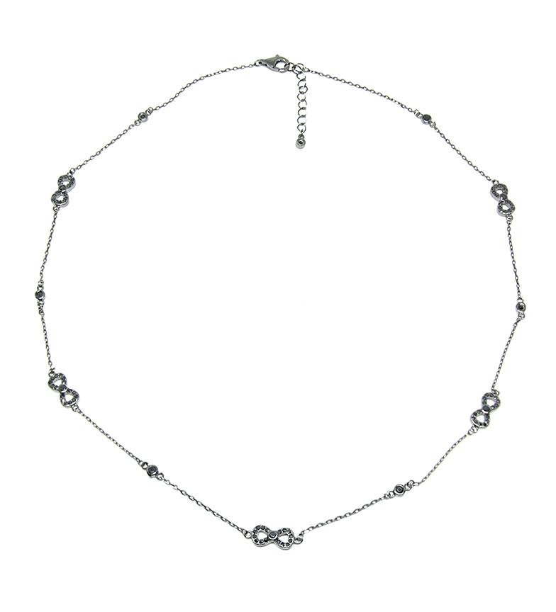 Comprar Yocari Collar Infinitos plata rodiada onix