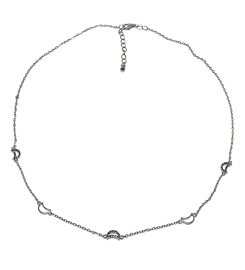Comprar Yocari Collar Lunas plata rodiada onix