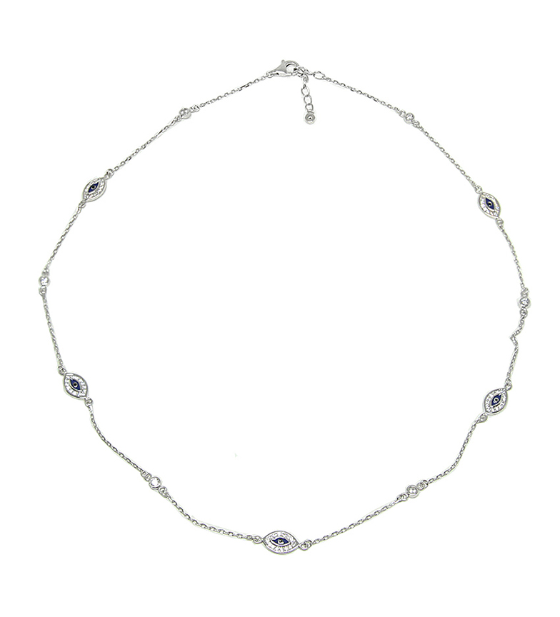 Comprar Yocari Turkish Eye Necklace rhodium-plated silver sapphire