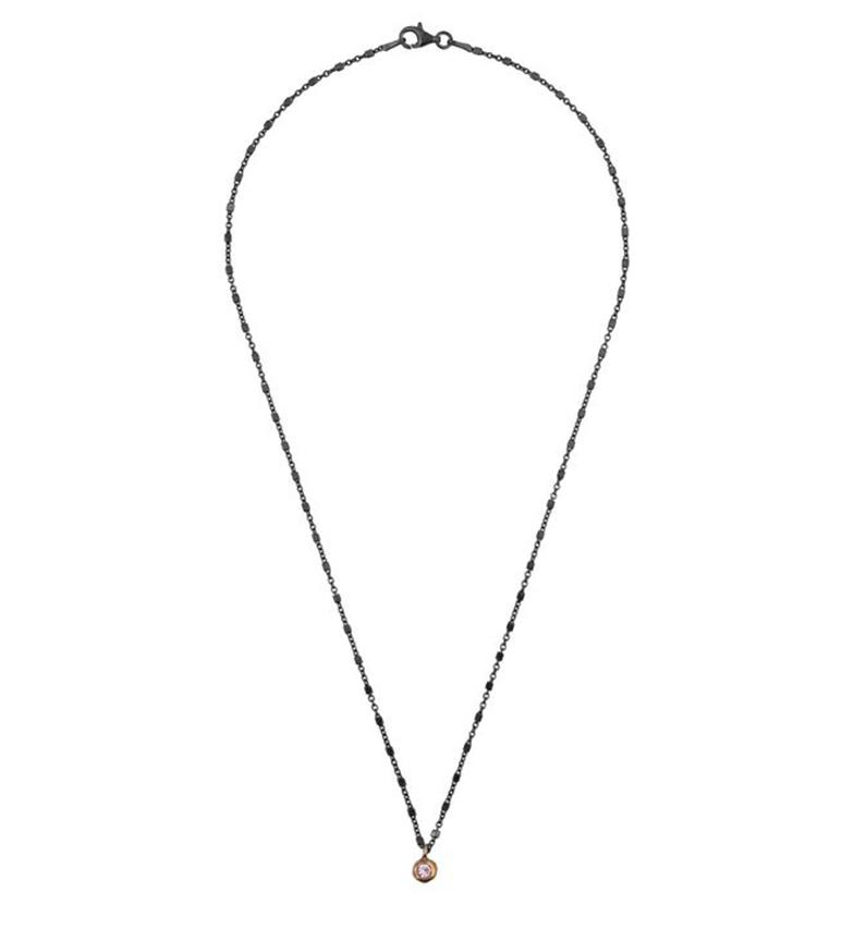 Comprar Yocari Necklace Round ruthenium silver pink