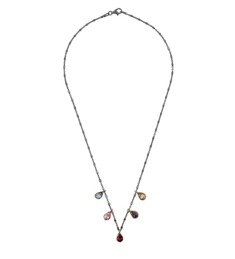 Comprar Yocari Necklace Tears ruthenium silver multicolor