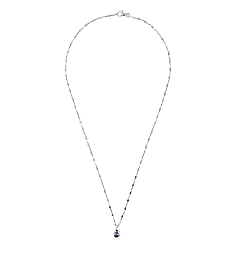 Comprar Yocari Necklace Pears rhodium-plated aquamarine silver