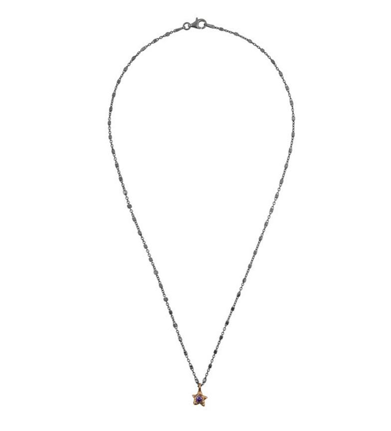 Comprar Yocari Collar Estrella plata rutenio amatista