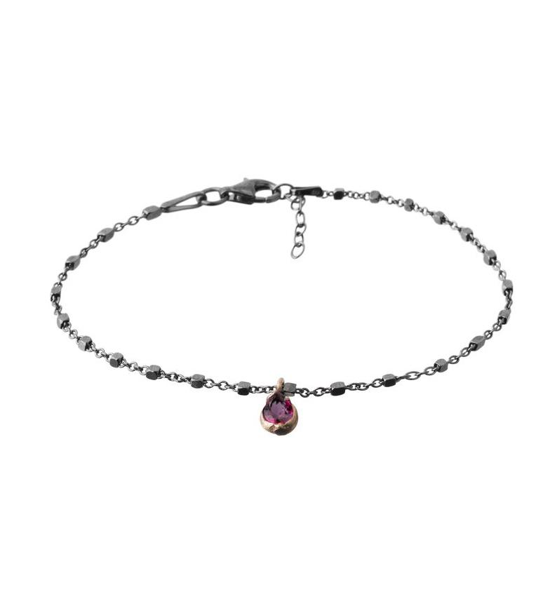 Comprar Yocari Bracciale Teardrop argento rutenio rubino rubino