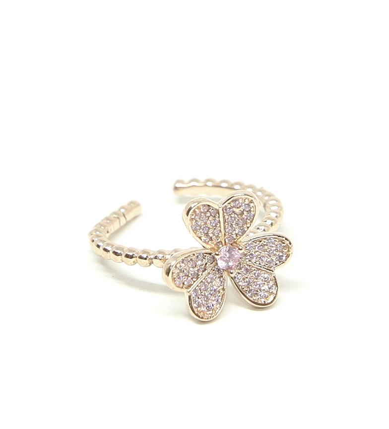 Comprar Yocari Anello Fiore placcato argento rosa