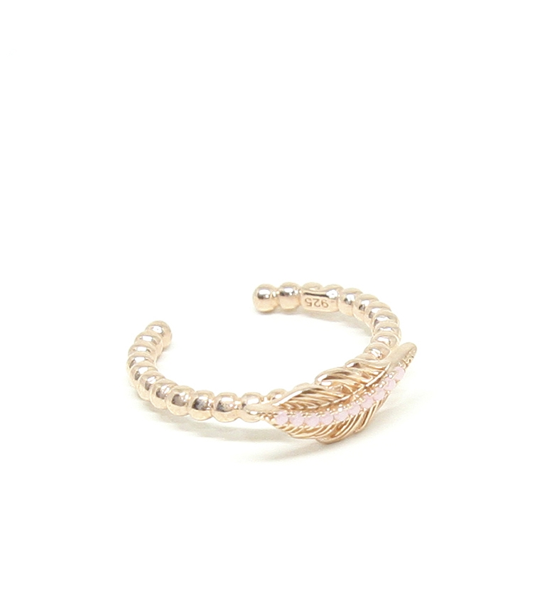 Comprar Yocari Ring Leaf silver plated pink