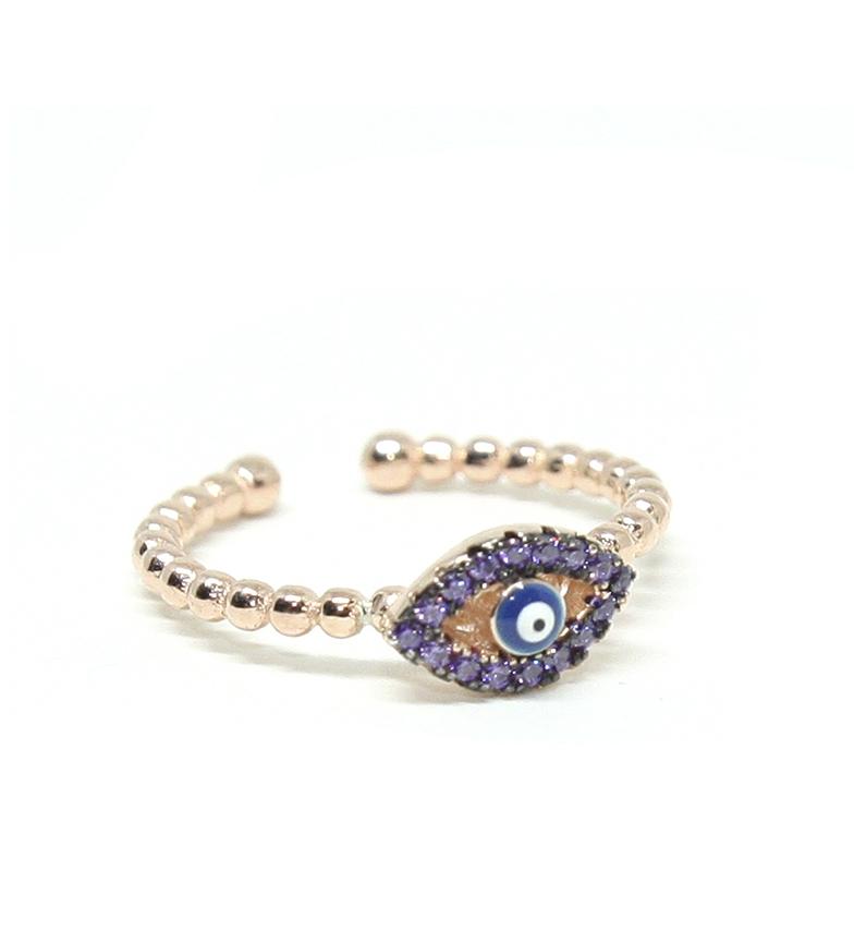 Comprar Yocari Eye Ring Turkish silver plated pink