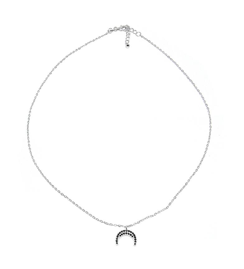 Comprar Yocari Collar Luna plata rodiada onix