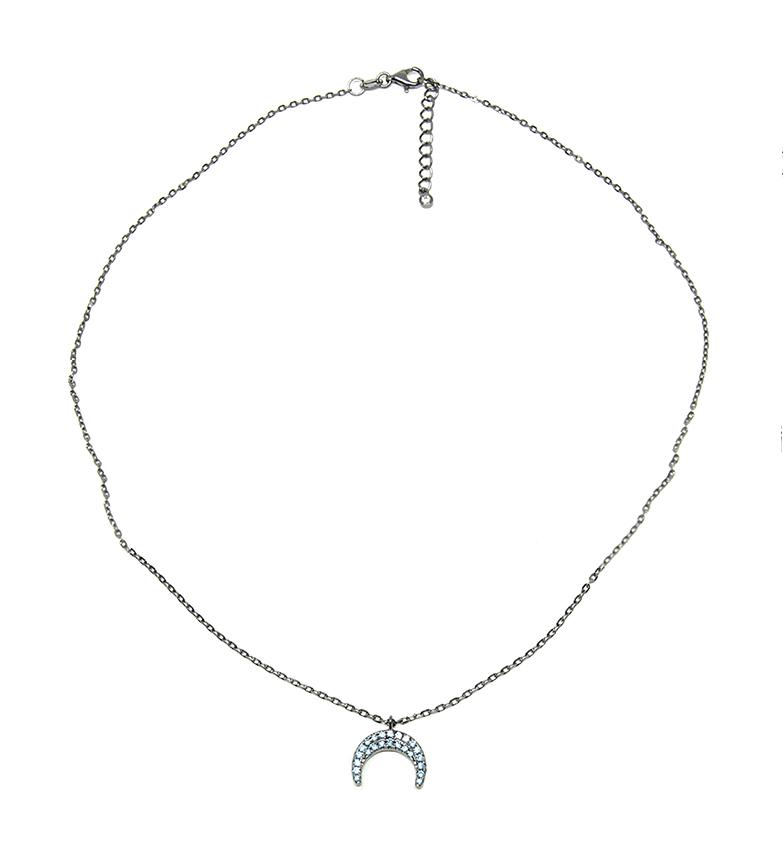 Comprar Yocari Collar Luna plata rutenio aguamarina