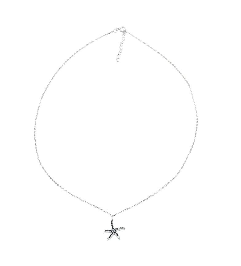 Comprar Yocari Collar Estrella plata rodiada onix