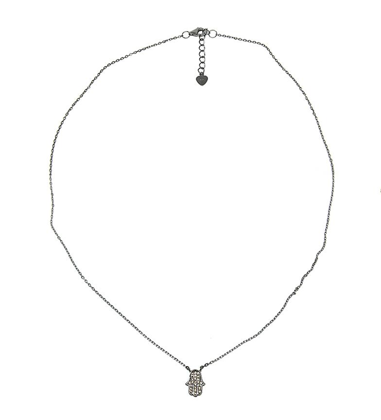 Comprar Yocari Mano di Fatima collana in argento ruthenium champagne