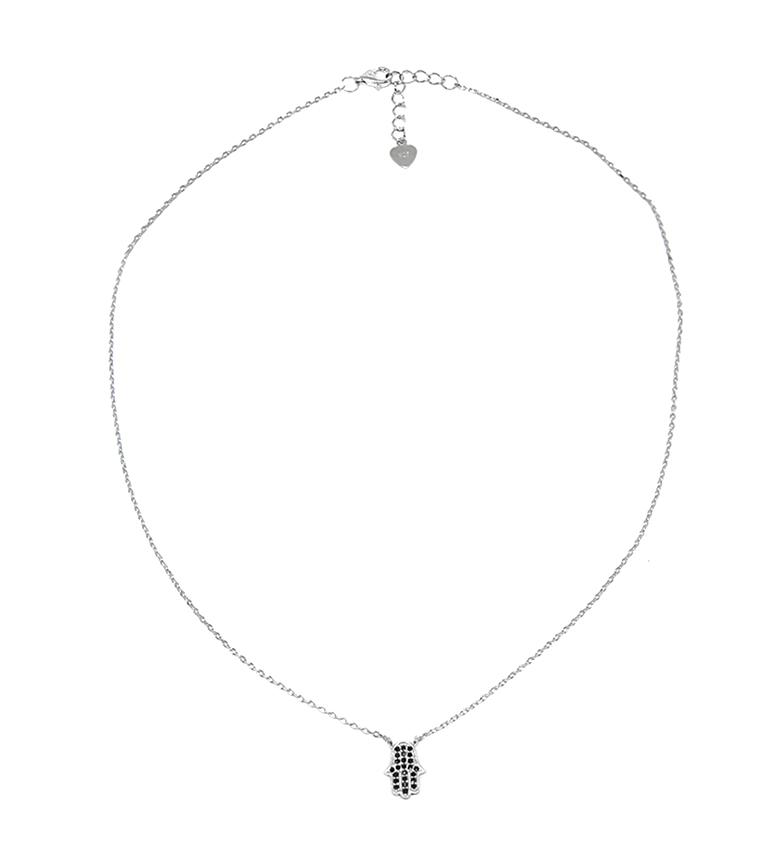 Comprar Yocari Collar Mano de Fátima plata rodiada onix