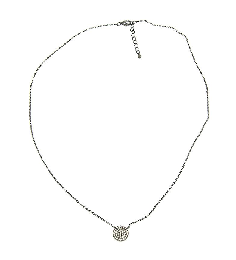 Comprar Yocari Collar Redondas plata rutenio champagne