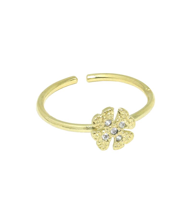 Comprar Yocari Silver Ring Gold Plated Cloverleaf Zircons