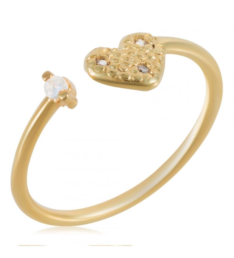 Comprar Yocari Gold Plated Silver Ring Heart Zirconia Gold Plated