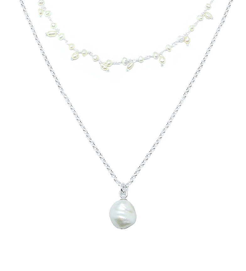 Comprar Yocari Collar Perla plata