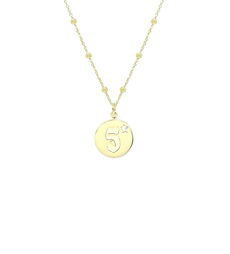 Comprar Yocari Collar Cinco chapado oro