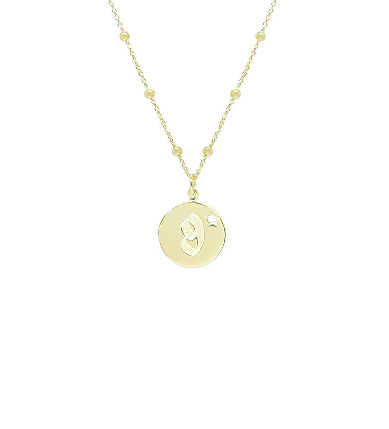 Comprar Yocari Nine gold plated necklace