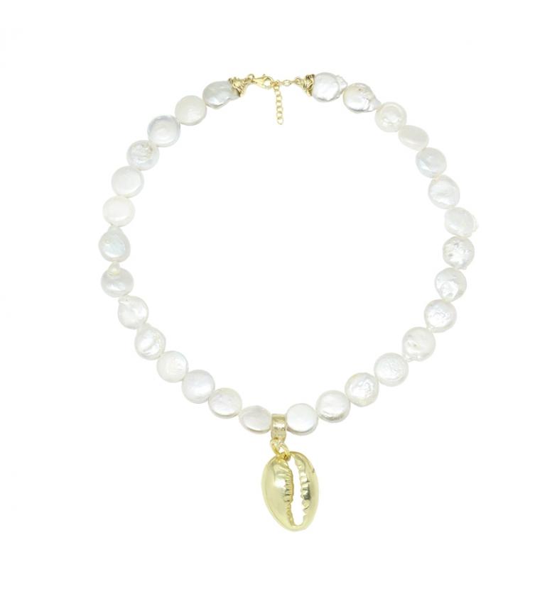 Comprar Yocari Collar Perla Plana Caracola