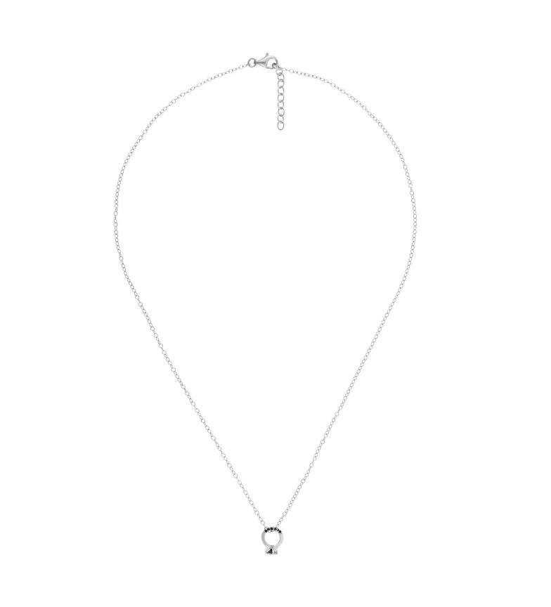 Comprar Yocari Collar de Plata con Motivo de Anillo y Circonitas plateado, negro