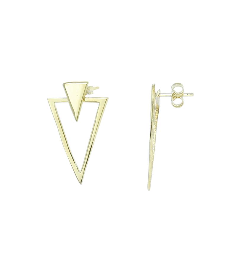 Comprar Yocari Pendientes Triángulos plata chapada en oro
