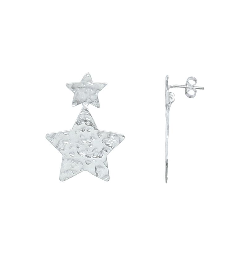 Comprar Yocari Orecchini in argento con incisioni a stelle