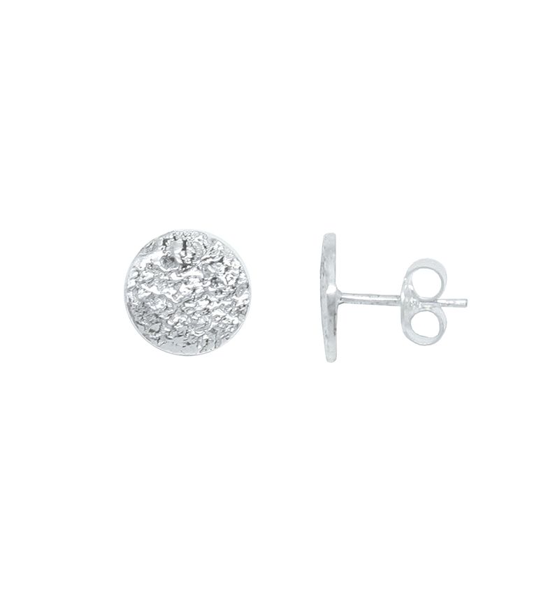 Comprar Yocari Earrings Round silver engraved