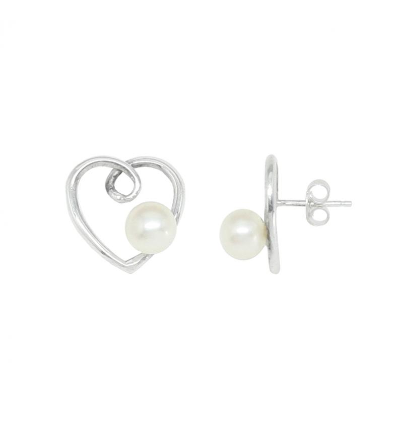 Comprar Yocari Silver Spiral Heart Earrings