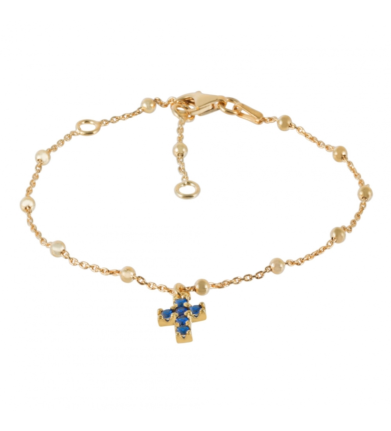 Comprar Yocari Bracciale Croce placcata oro Zaffiro dorato