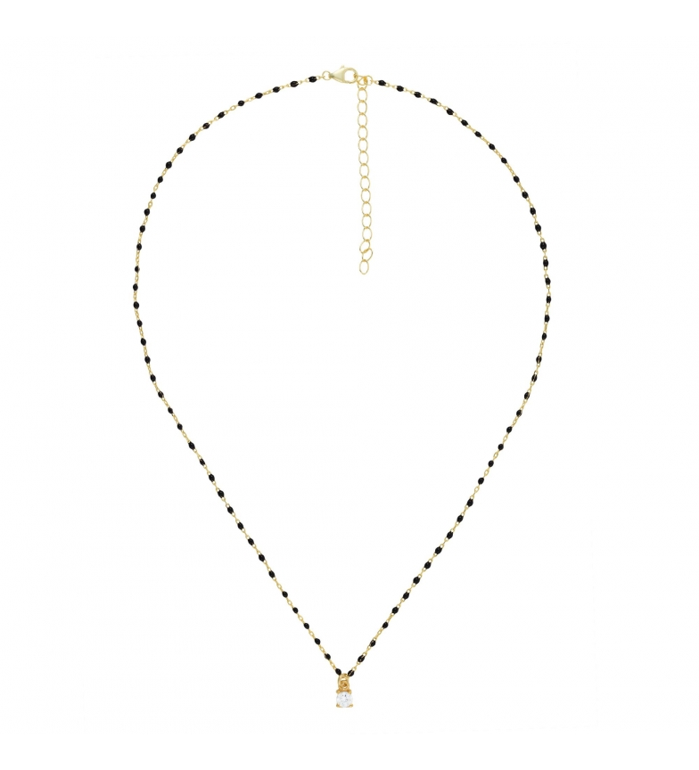 Comprar Yocari Gold Plated Silver Necklace Chain with black, gold zirconia