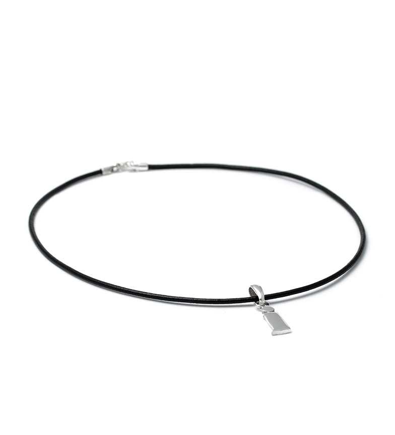 Comprar Yocari Necklace I silver, rubber