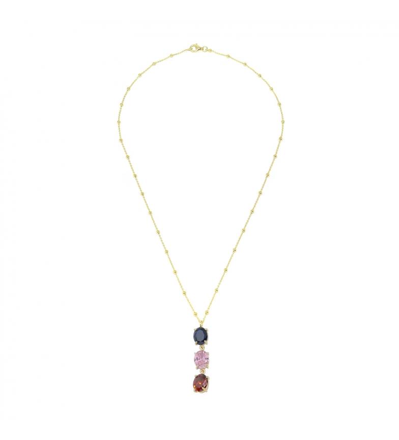 Comprar Yocari Collana 3 Zirconi placcati argento multicolore -40-42cm