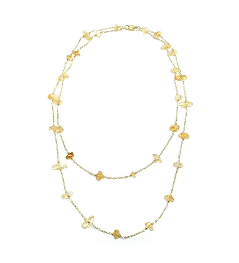 Comprar Yocari Necklace Natural Stone silver plated yellow -90cm