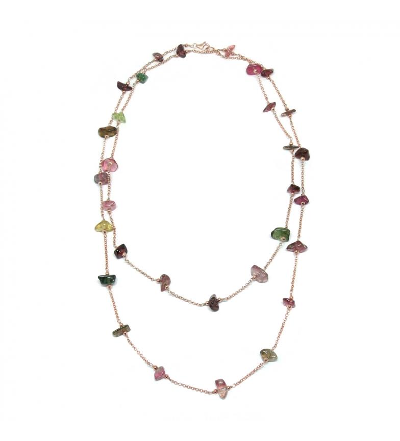 Comprar Yocari Collar Piedra Natural plata chapado rosa turmalida -90cm-