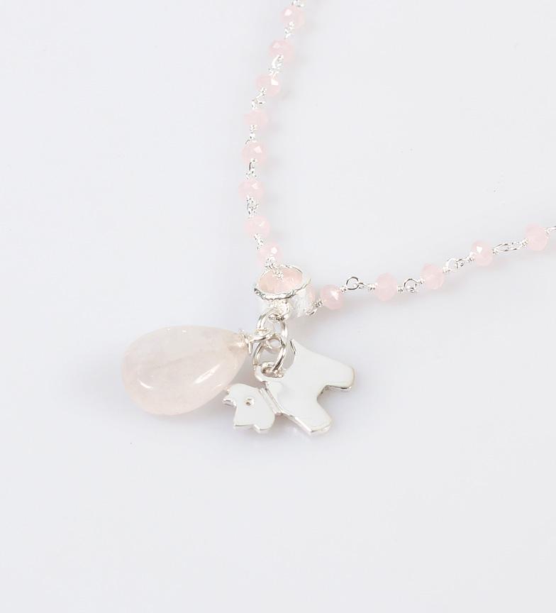 Comprar Yocari Silver necklace Puppy silver, pink quartz