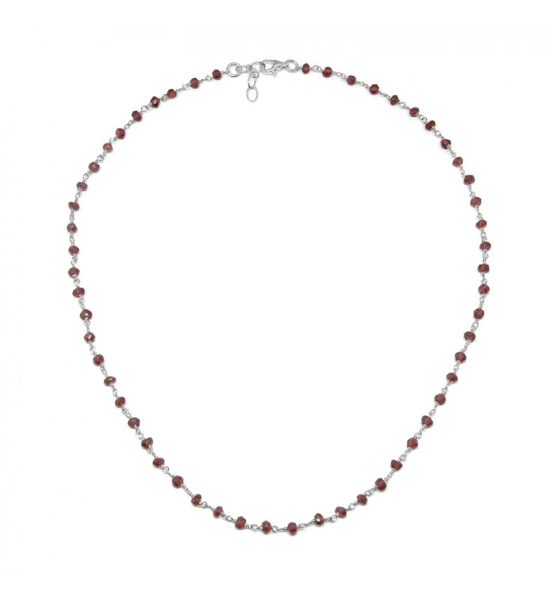 Comprar Yocari Rosario Collana Spinelli rosso argento -40-42 cm