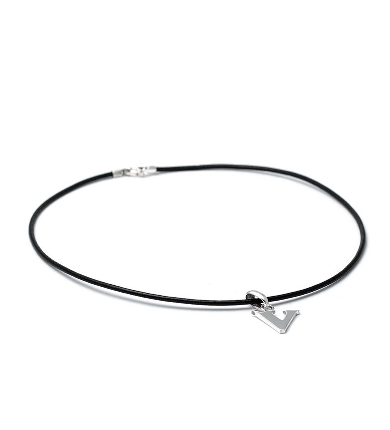 Comprar Yocari Necklace V silver, rubber